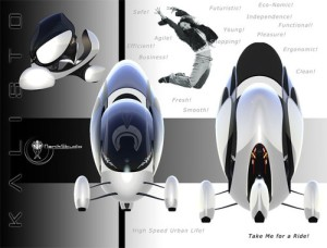 Futuristic Personal Vehicle 'The KALISTO' by  Niklas Wejedal