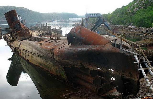кладбище подводных лодок во  полярном