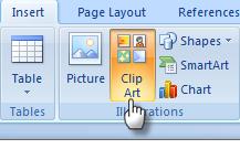 Ms Insert ClipArt Cara Membuat Kartu Ucapan dengan MS Word dengan mudah